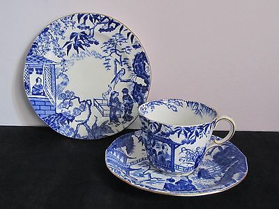 Royal Crown Derby Mikado Blue China Tea Set Cup and Saucer