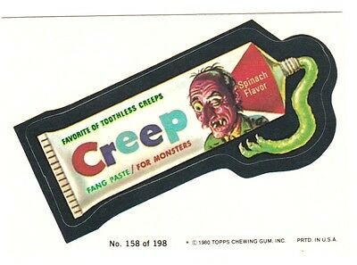 """1980 Wacky Packages 3Rd Series """"creep"""" #158 Sticker Card"""