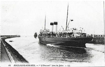 RP Card T.S.S. ONWARD LEAVING BOULOGNE-SUR-MER - Lucien Levy Card - Unposted