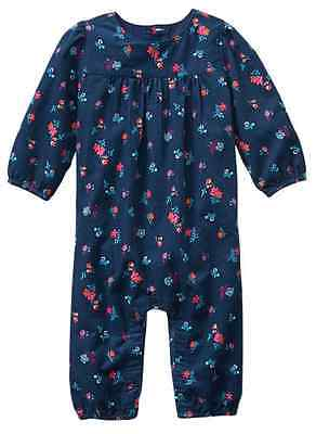 Baby Gap Blue Floral One Piece Baby Girl Romper NWT size  0-3 months