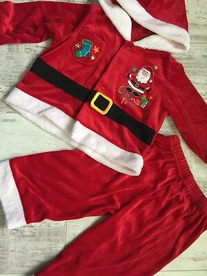 Baby Boys Christmas Santa Clause Costume Outfit Set Matalan Age 9-12 Months