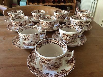 10 Cups And Saucers