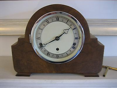 Elliott Walnut Westminster Chiming Mantle Clock