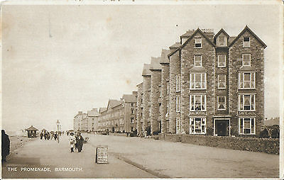 RP Card BARMOUTH THE PROMENADE - Animated Card - Unposted