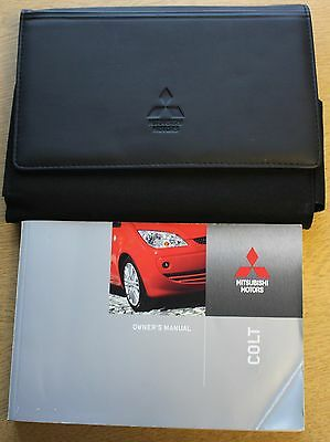 Mitsubishi Colt Handbook Owners Manual 2004-2008 Wallet Pack 11049