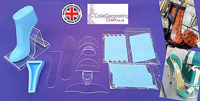 Fondant High Heel Shoe Kit for Cake Decoration and Cake Toppers | 13 Parts
