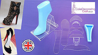 Fondant High Heel Shoe Kit for Cake Decoration and Cake Toppers | 11 Parts