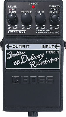 Boss Fdr-1 Fender 65 Deluxe Reverb Effects Pedal + 2 Free Guitar Plectrums