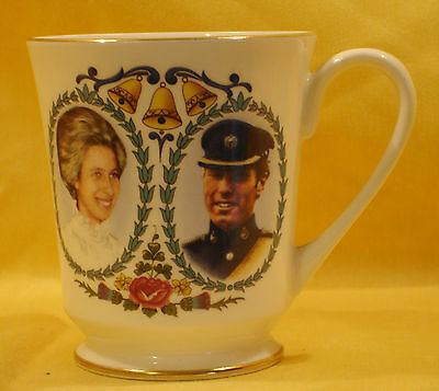 A13 1973Princess Anne & Mark Phillip   Wedding  Mug Aynsley