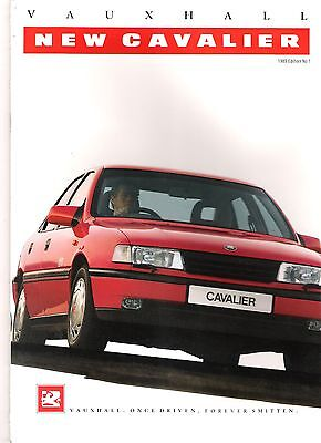 "Vauxhall ""NEW"" Cavalier UK sales brochure 1989"