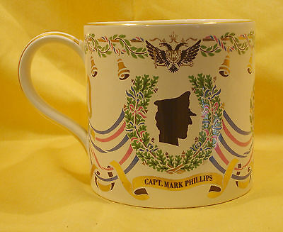 A07 1973 Princess Anne Mark Phillips Lrg. Guyatt Wedding Mug by  R/ Worcester