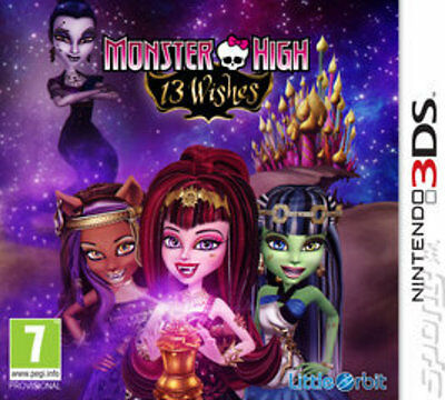 Nintendo 3DS Game - Monster High 13 Wishes