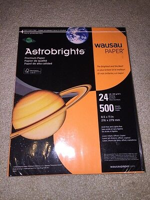 "Astrobrights Copy Paper 8 1/2""x11"" 24Lb Cosmic Orange, Pack Of 500 Shts, 21658"