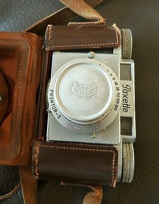 Paxette Prontor-S 35mm film camera with lens and case
