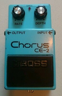 Vintage Boss CE-2 Analog Chorus pedal MIJ, silver screw long dash MN3007, 1979