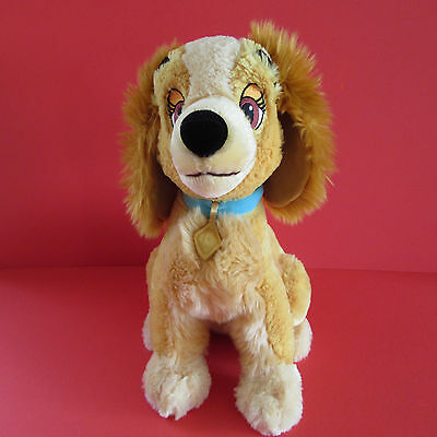 """Lady And The Tramp - 14"""" Tall Lady Soft/plush Toy Dog - Disney Store"""