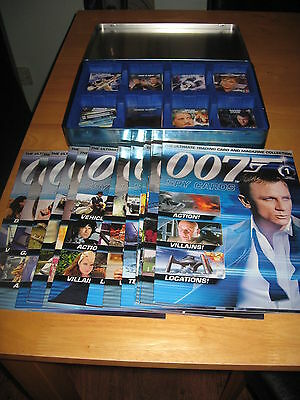 007 James Bond Trading Cards & Magazine Collection With Card Tin