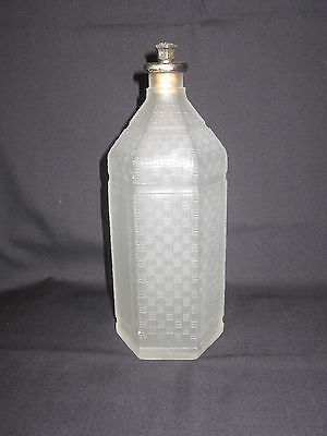 Frosted glass barber's bottle