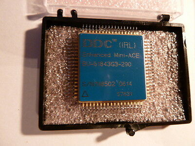 NEW 1PC DDC BU-61843G3-290 MIL-STD-1553 CONTROLLER, CQFP72 ,2 CHANNEL(S), 1M bps