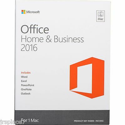Microsoft Office 2016 for Mac (Home and Business)   FULL   NEW   D/L & KEY 