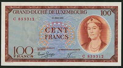 Luxembourg 100 Francs 1956