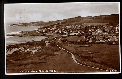 WOOLACOMBE ENGLAND General View RPPC  Old Postcard PC