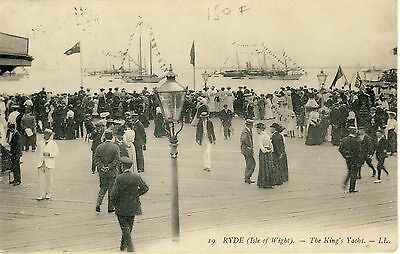 N 114 Early Ll Postcard Of Ryde,the King's Yacht,isle Of Wight, Ll 19.