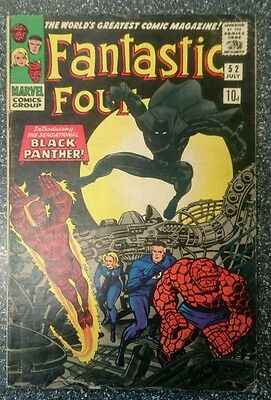 Fantastic Four #52 FN- or 5.5 1st Black Panther