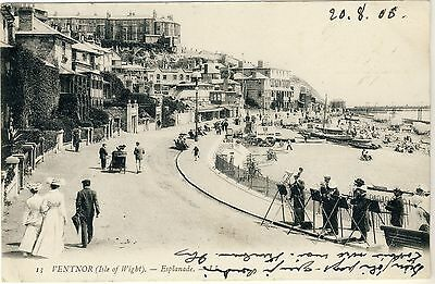 N 116 Early Ll Postcard Of Ventnor,isle Of Wight,1908. Ll 13