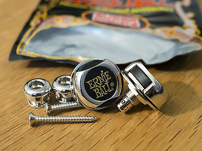Ernie Ball Super Strap Locks, Chrome - Wie neu!