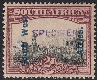 South West Africa 1927 2d SG49s, Hand Stamped SPECIMEN. MNH Unmounted