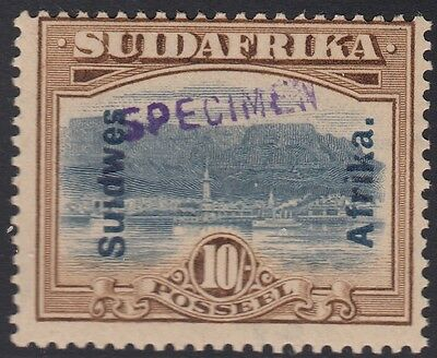 South West Africa 1927 10s SG54s, Hand Stamped SPECIMEN. LM Mint