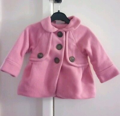 Baby girls pink fleece coat 9-12 months Next