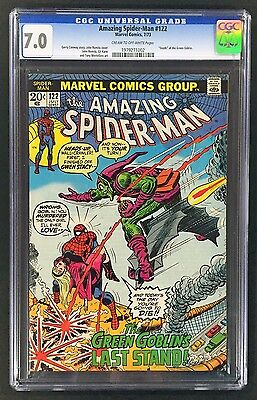 "The Amazing Spider-Man 122 CGC 7.0 ""Death of Green Goblin"" Key issue!"