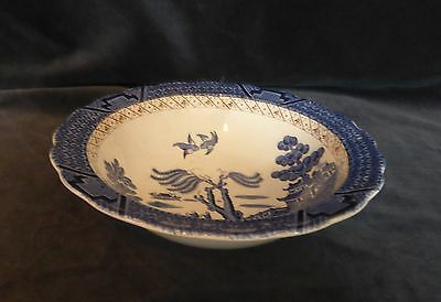 """Booths Real Old Willow 8 1/4"""" Deep Serving Bowl"""