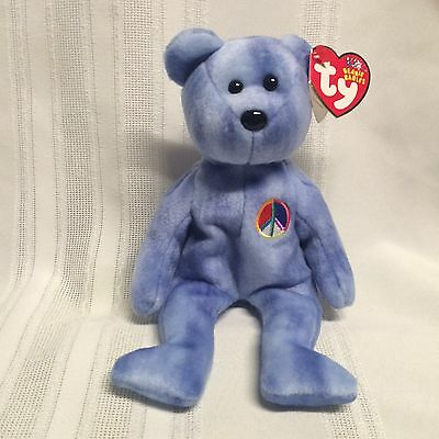 "Ty Beanie Babies Bear - Peace ""Bear"" - November 17, 2002"