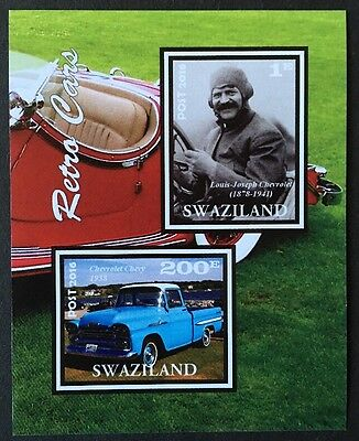 Autos Cars Oldtimer Transport Swaziland 2016 MNH KB Sheet IMPERF