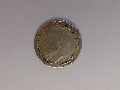 Great British George V Threepence Coin 1914