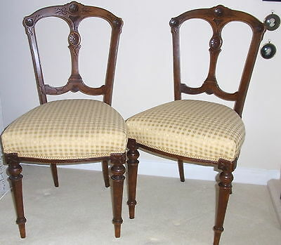 Elegant Pair of Antique Dining Chairs