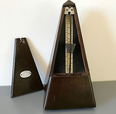 Antique Maelzel Paquet Metronome 1815-1846 Made in France Works! Dark Wood