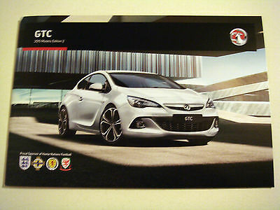 Vauxhall . Astra GTC . 2015 Models Edition 2 . Sales Brochure