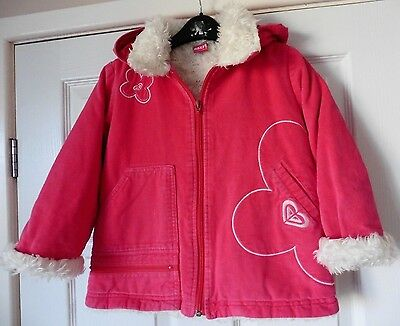 Girls Roxy Quiksilver Hooded Coat Age 4 Years