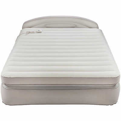 AeroBed Opti-Comfort Queen Air Mattress with Headboard Camping Airbed Bedding 1