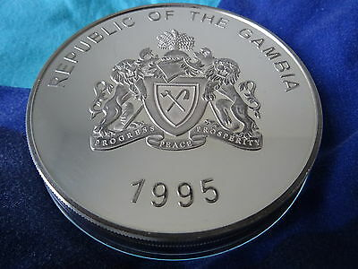Muenze Silber 1 KG 1995 Gambia 100 Dalasis Endangered Wildlife Silver Coin
