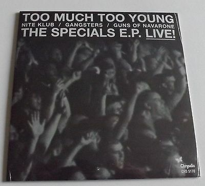 """The Specials Ep Live Too Much Too Young 7"""" Vinyl Sealed"""