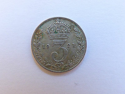 Great Britain George V Threepence Coin 1921
