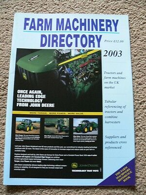 Farm Machinery Products & Suppliers. 2003. Reference Manual