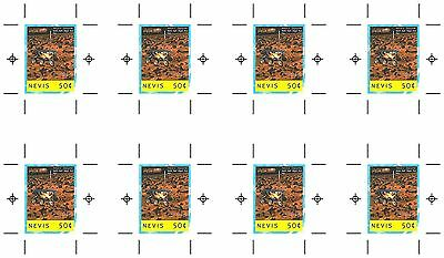St Kitts Nevis Mi#1451 Space NASA USA Mars Moon Trips Signed Composite Proof MNH