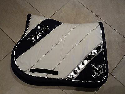 Tottie Padded Saddlecloth - White/Blue Cob. Excellent Conditon.