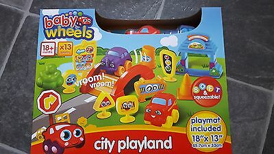BN baby wheels playland with playmat 13 pieces 18months +